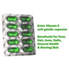 50 Evion Capsules Vitamin E For Glowing Face